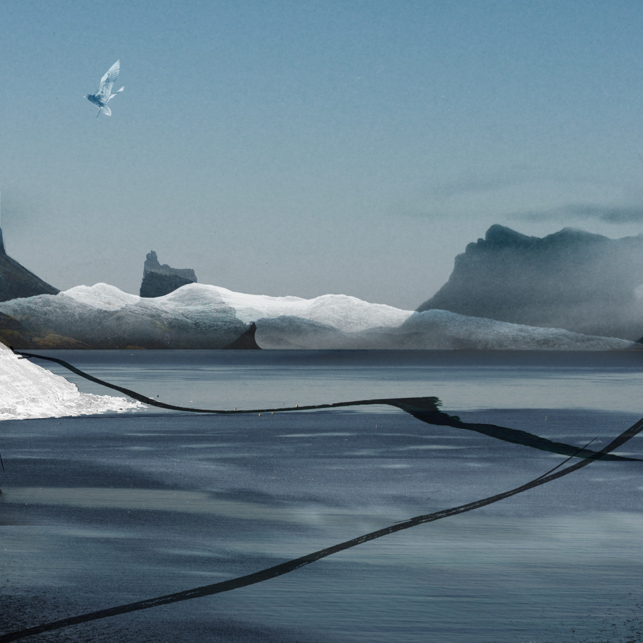 Francis Jolly, Sans titre, série Islande, paysages
